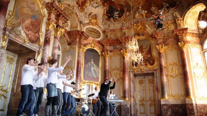 Dreh im Schloss/Bruchsal