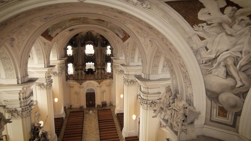neuer Beispielfilm online! Innenaufnahmen der Basilika Weingarten